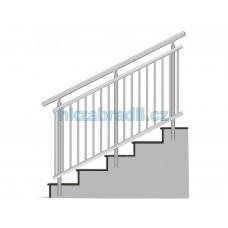 HK Zábradlí na schody A3BS-2 1000x900 HLINIK silver