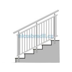 HK Zábradlí na schody A3BSB-2 1000x1000 HLINIK bronz