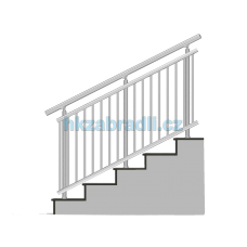 HK Zábradlí na schody A3HS-2 1000x900 HLINIK silver