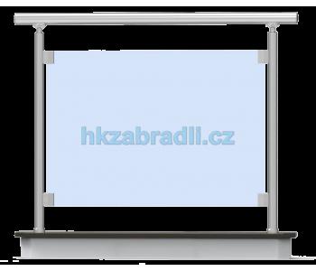 HK Zábradlí rovné E1HR-2 1000x1000 HLINIK silver