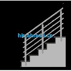 HK Zábradlí na schody HK4BS-2 1000x900 HLINIK bronz