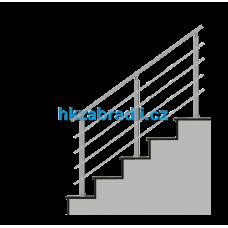 HK Zábradlí na schody HK4HS-2 1000x900 HLINIK bronz