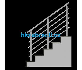 HK Zábradlí na schody HK5HS 1000x1000 HLINIK bronz