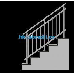 HK Zábradlí na schody HKA3HS-2 1000x1000 HLINIK bronz