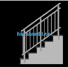 HK Zábradlí na schody HKA4BR-2 1000x1000 HLINIK bronz