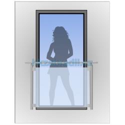 HK Zábradlí na okno HKFR2-2 HLINIK bronz