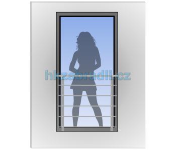 HK Zábradlí na okno HKFR8-2 HLINIK bronz