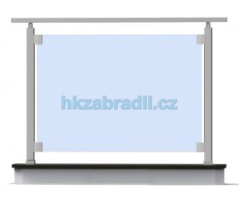 HK Zábradlí rovné S1HR-2 1000x1000 HLINIK bronz