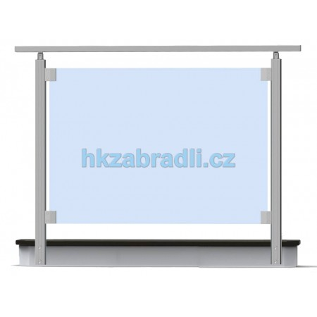 HK Zábradlí rovné S2BR-2 1000x1000 HLINIK bronz
