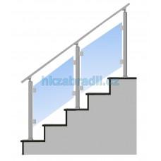 HK Zábradlí na schody S3HS-2 1000x1000 HLINIK bronz