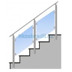HK Zábradlí na schody S4BS-2 1000x1000 HLINIK bronz
