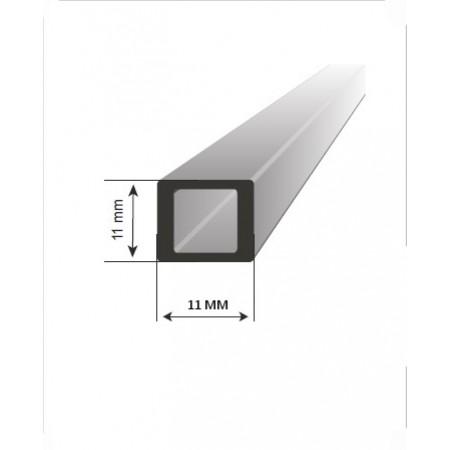 Příčka hranatá 10x10mm pro svislou výplň. Barva BRONZ