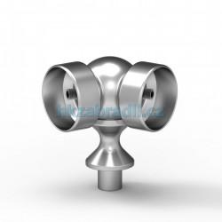 Pohyblivé koleno na madlo 50mm do stojky 40mm