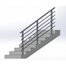 Zábradlí na schody model N3