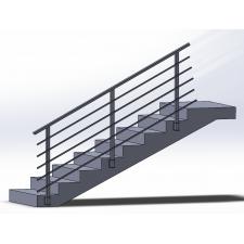 Zábradlí na schody model N4