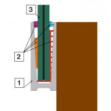 Celoskleněné zábradlí C3 boční kotvení
