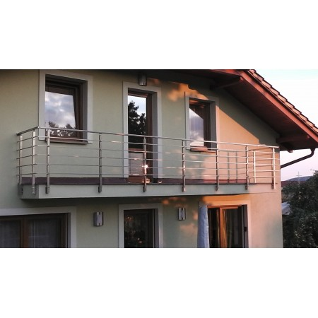 Hranaté zábradlí na terasu a balkón model HK5BR boční