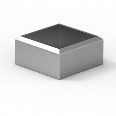 Příruba dekorační na stojku 40x40mm silver