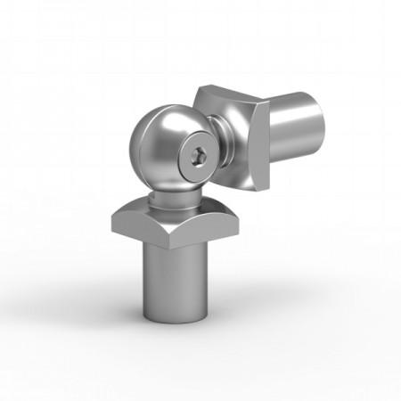 Pohyblivé koleno na příčku 14x14mm silver