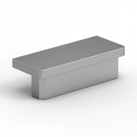 Záslepka na madlo 60x25mm silver