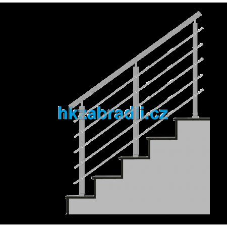 HK Zábradlí na schody HN5SH-2 AISI304 brus