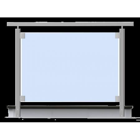 Nerezové skleněné hranaté zábradlí boční kotvení. sklo 4.2.4