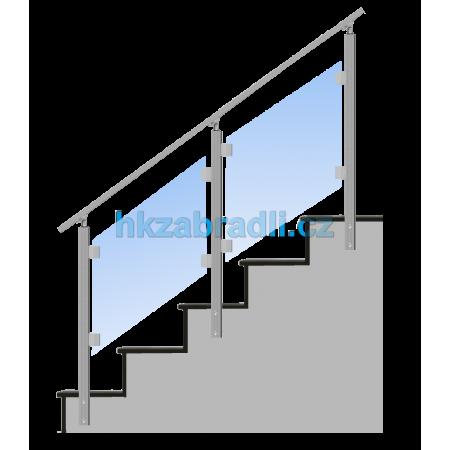 HK Zábradlí na schody HNSBS-2 AISI304 brus