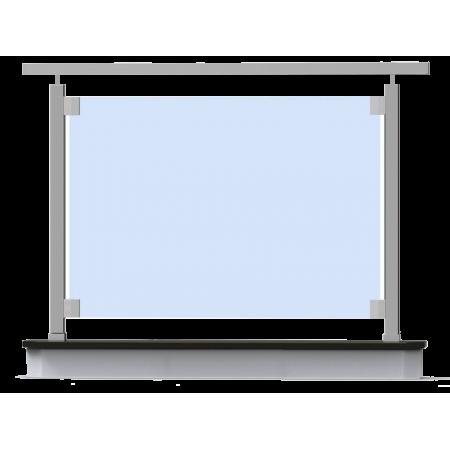 Nerezové skleněné hranaté zábradlí horní kotvení. sklo 4.2.4