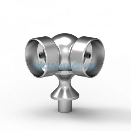 HK Zábradlí Pohyblivé koleno 2xD50xD40 HLINIK bronz