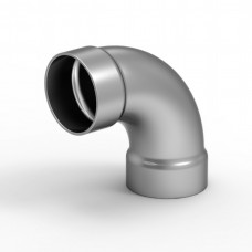 Koleno na madlo 50mm/90° pro vnější nasunutí. Barva BRONZ