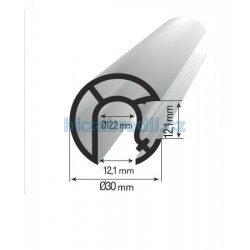 Profil 30mm s drážkou 90°
