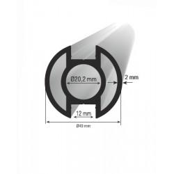 Stojka 40 mm dvojitá drážka 180°