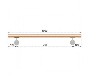 Dřevěné Dubové Madlo Na Zeď 1000mm