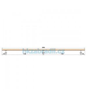 HK Zábradlí Madlo dřevěné D42xL2500 BUK