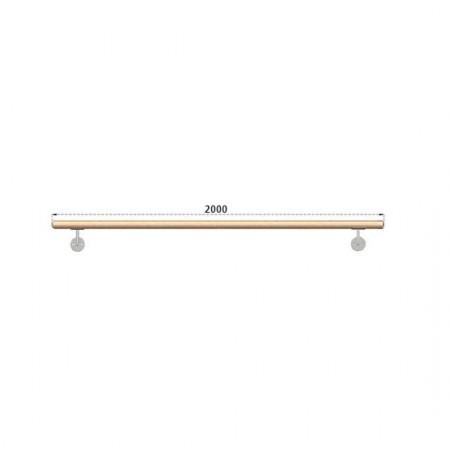 Dřevěné Bukové Madlo Na Zeď 2000mm