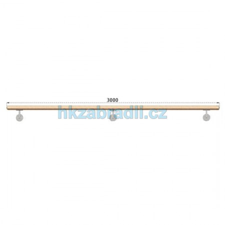 HK Zábradlí Madlo dřevěné D42xL3000 BUK