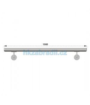 HK Zábradlí Madlo na zeď D50xL1000 HLINIK silver