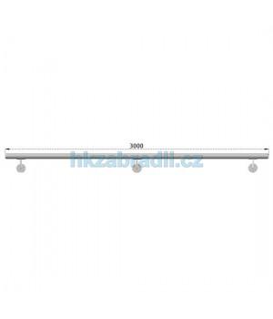 HK Zábradlí madlo na zeď D50xL3000 HLINIK silver