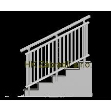 Kulaté zábradlí na schody BRONZ imitace nerez model A3BSB