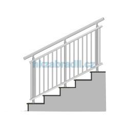 HK Zábradlí na schody A3HSB-2 1000x1000 HLINIK bronz