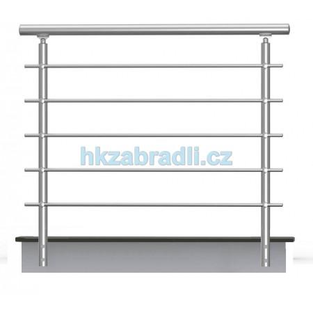 HK Zábradlí rovné B2BR-2 1000x900 HLINIK silver