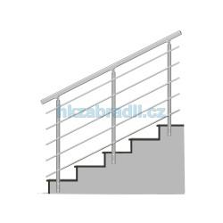 HK Zábradlí na schody B3BS-2 1000x900 HLINIK silver