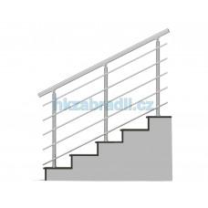 HK Zábradlí na schody B3HSB-2 1000x900 HLINIK bronz