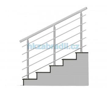 HK Zábradlí na schody B3HS-2 HLINIK silver
