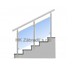 Zábradlí na schody model E3 boční