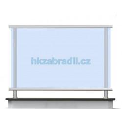 HK Zábradlí rovné C4HRB-2 1000x1000 HLINIK bronz