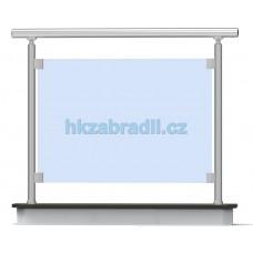 HK Zábradlí rovné E1HRB-2 1000x1000 HLINIK bronz