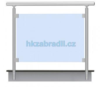 HK Zábradlí rovné E2BR-2 1000x1000 HLINIK silver
