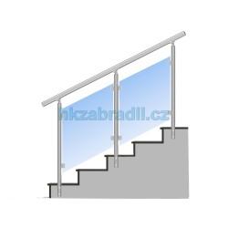 HK Zábradlí na schody E3BSB-2 1000x1000 HLINIK bronz