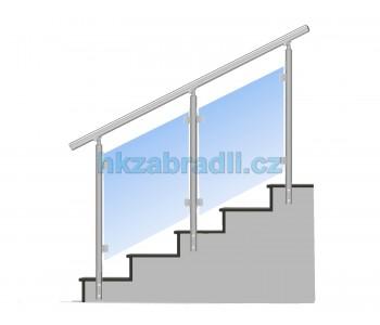 HK Zábradlí na schody E3BS-2 1000x900 HLINIK silver